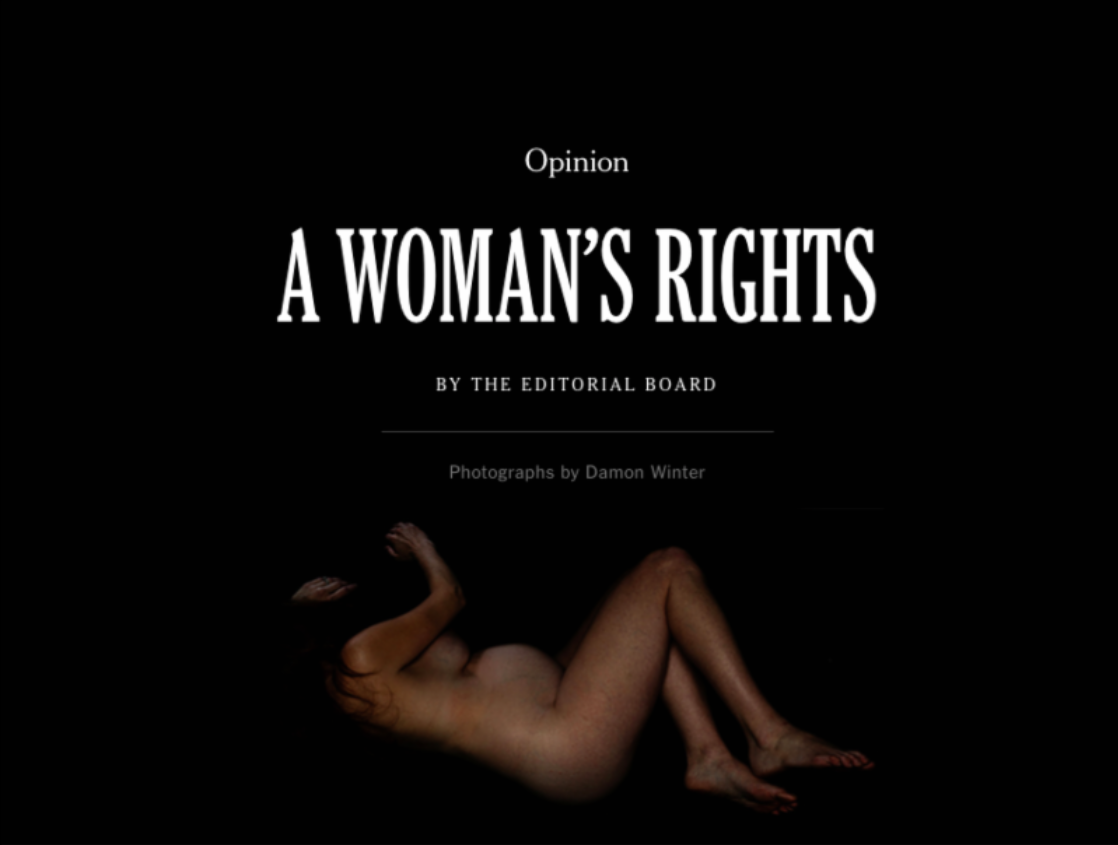 NAPW's Work Featured in Brilliant NYT Editorial Board Series