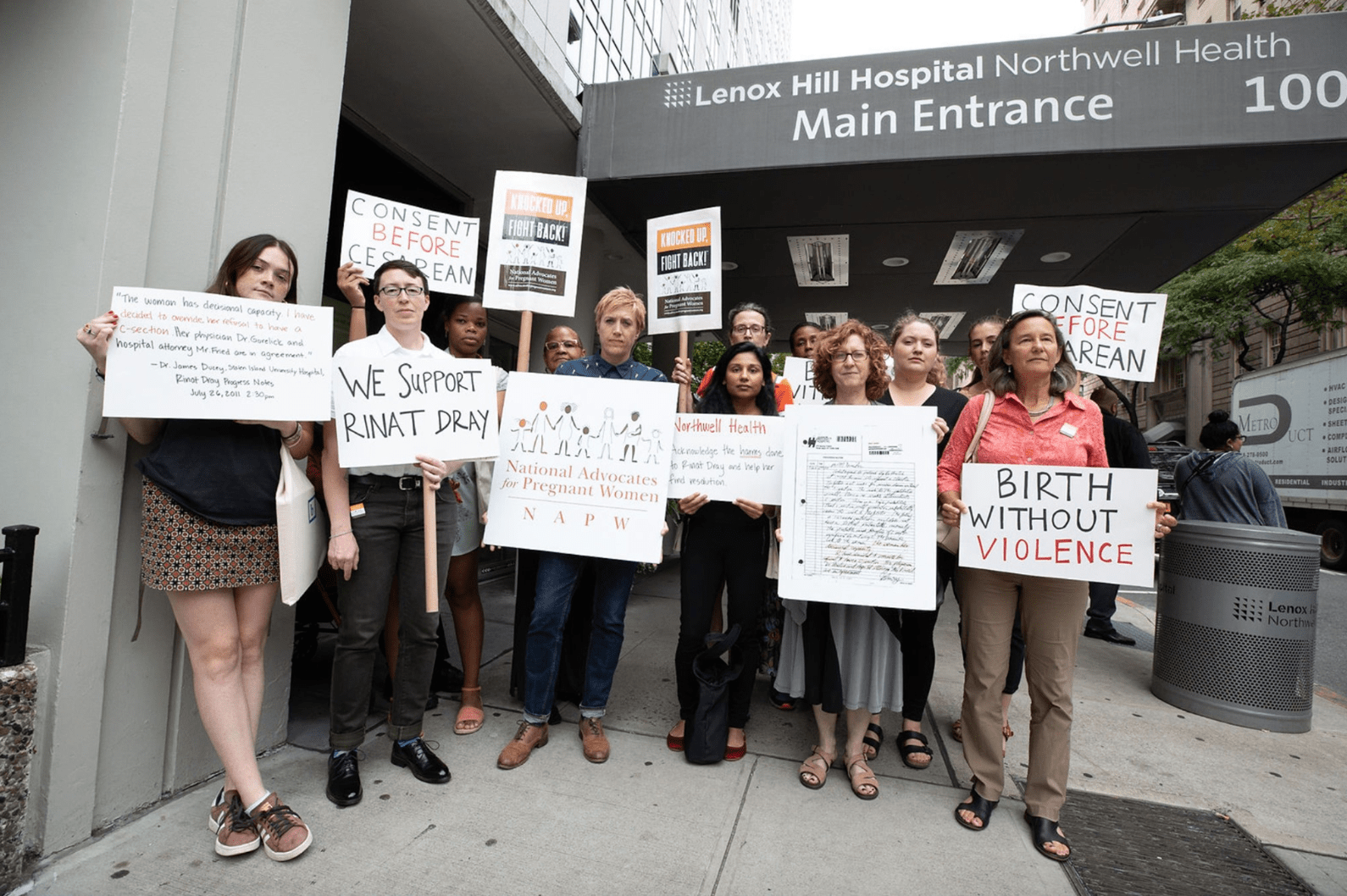 NAPW Activists Rally Against Northwell Health
