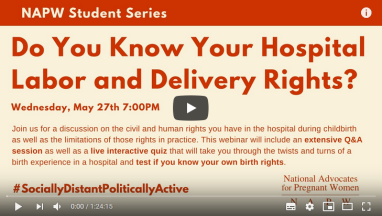 NAPW STUDENT SERIES WEBINAR: May 27 | 7pm EDT