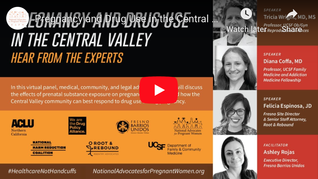 WEBINAR: Pregnancy and Drug Use in the Central Valley: Hear from the Experts